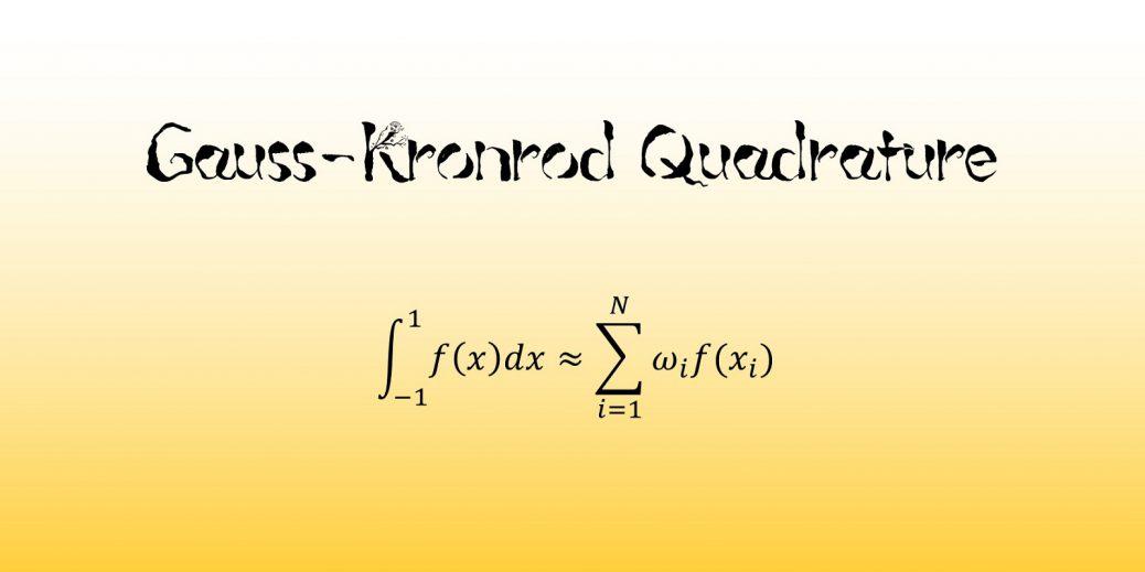 ガウス=クロンロッド求積法
