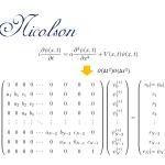 時間依存シュレーディンガー方程式の数値解法 クランク=ニコルソン法